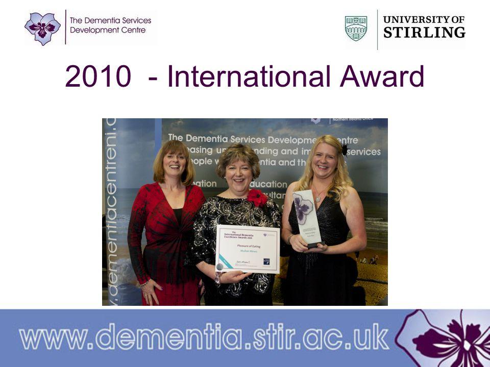 2010 - International Award