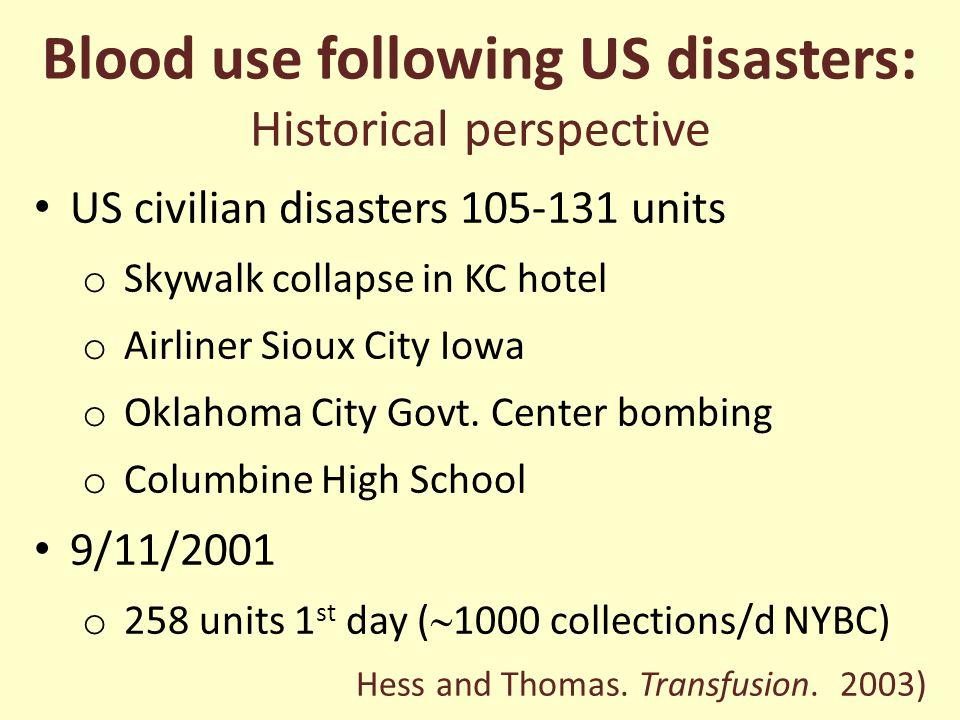 Sept. 11, 2001: Courtesy of the New York Blood Center