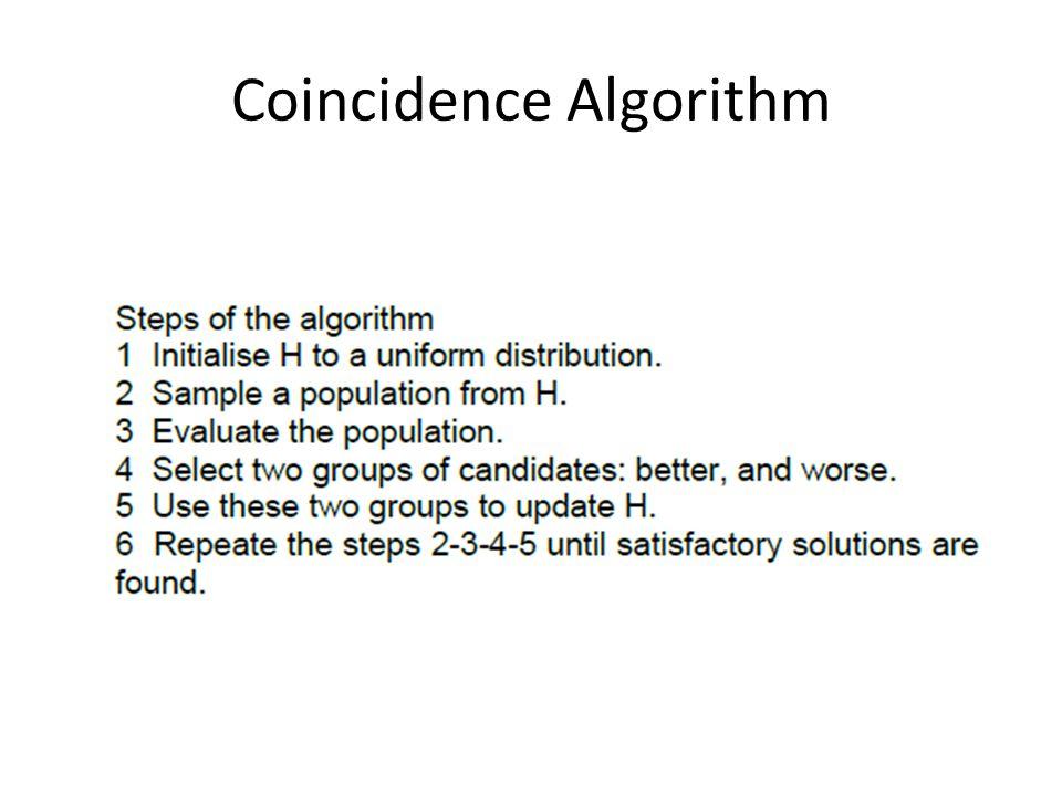 Coincidence Algorithm