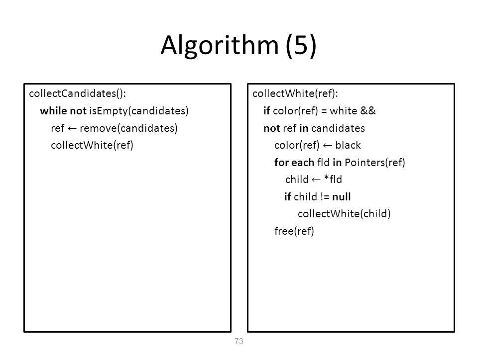 Algorithm (5) 73