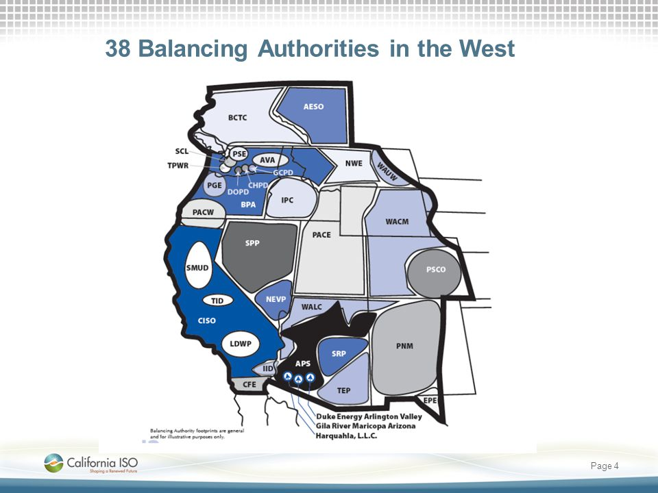 38 Balancing Authorities in the West Page 4