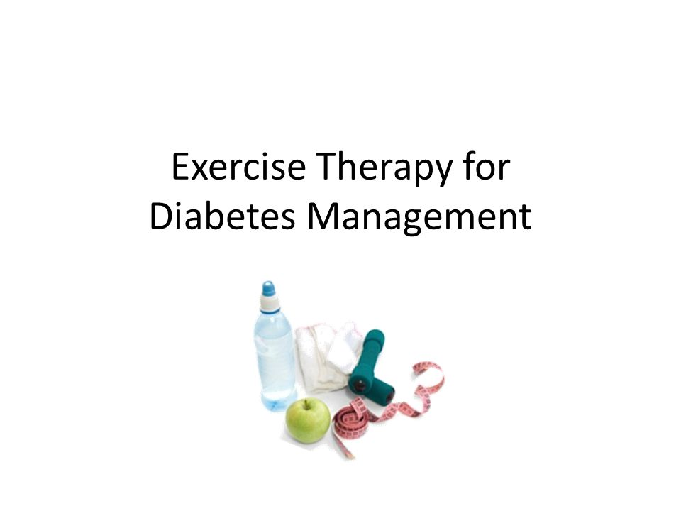 Exercise Therapy for Diabetes Management