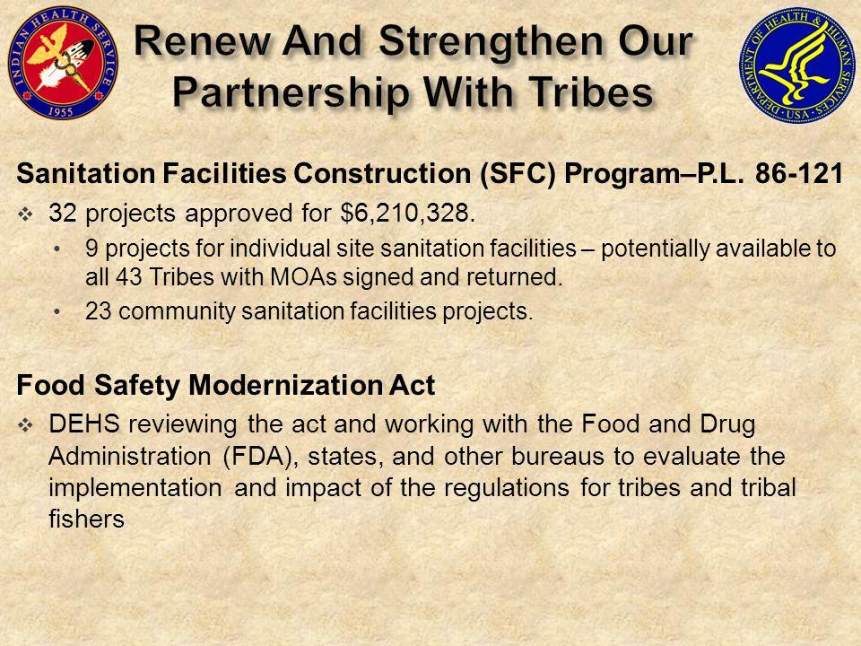 Sanitation Facilities Construction (SFC) Program–P.L.