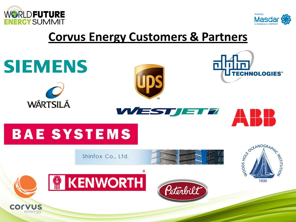 Corvus Energy Customers & Partners