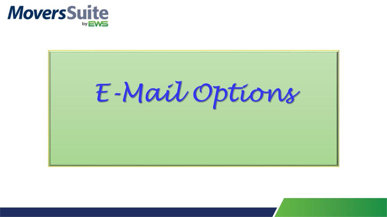 E-Mail Options