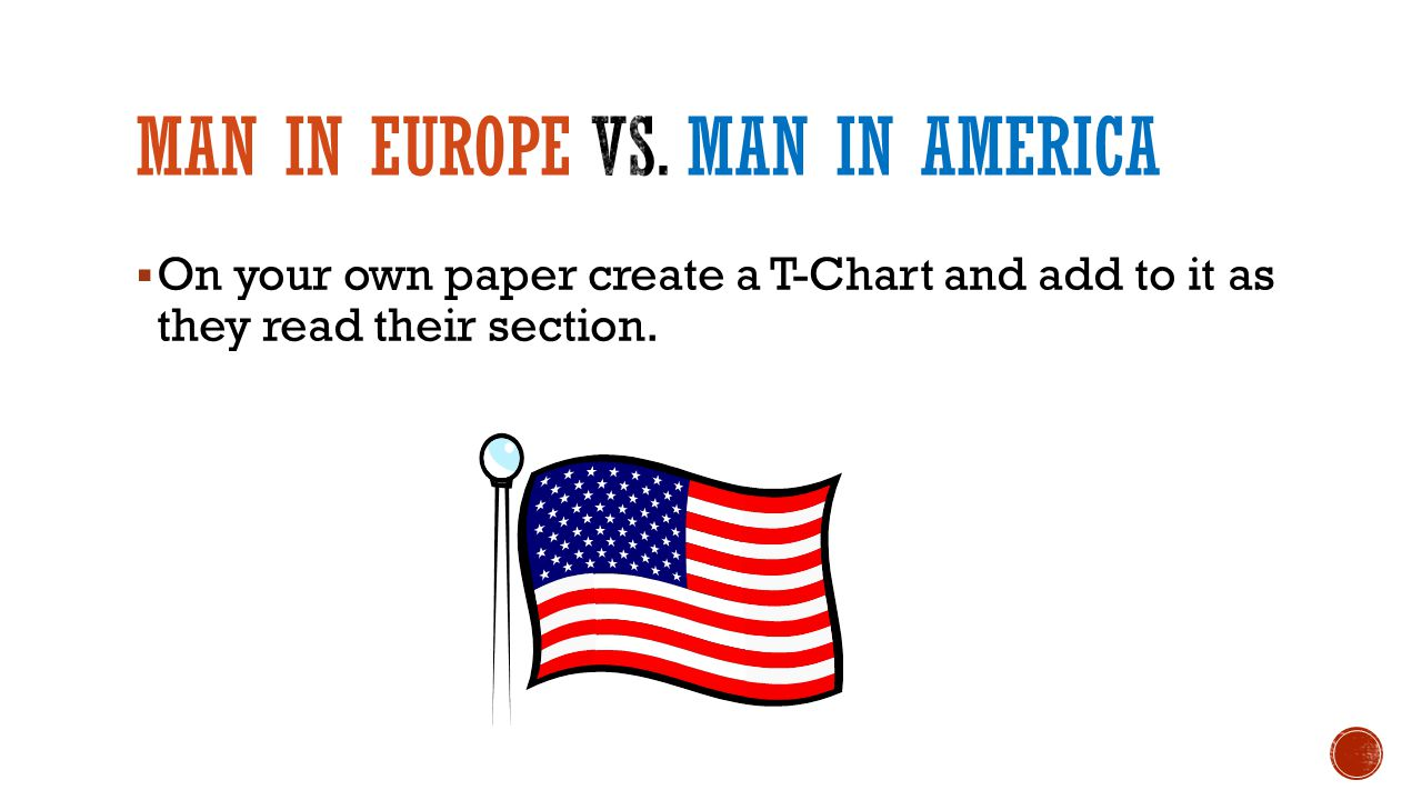  On your own paper create a T-Chart and add to it as they read their section.