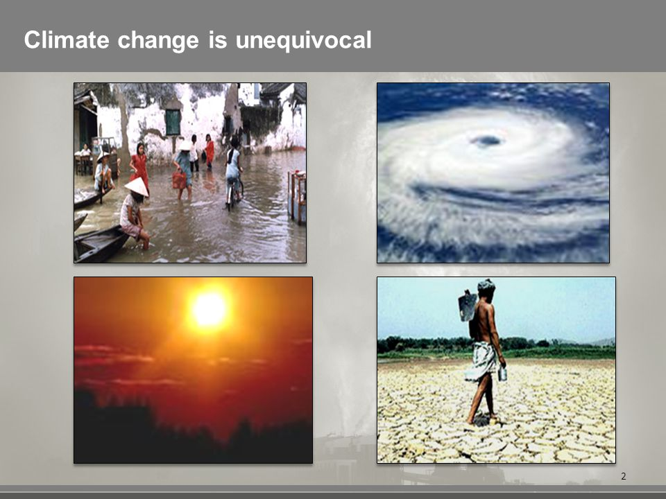 Climate change is unequivocal 2