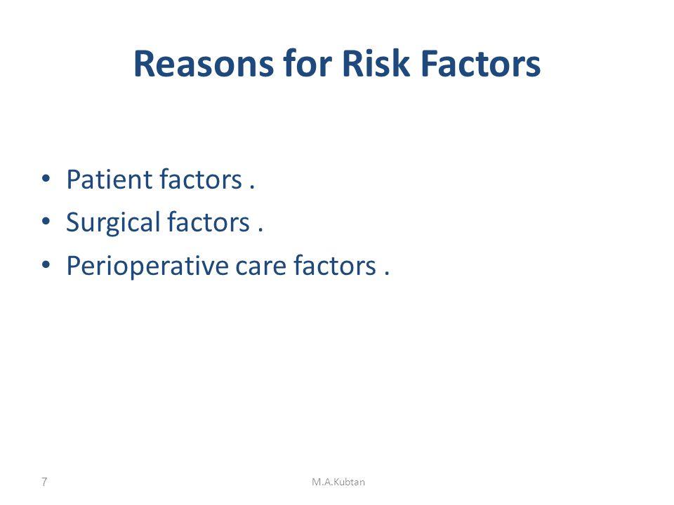 Patient factors Ischaemic heart disease.Chronic obstructive pulmonary disease.