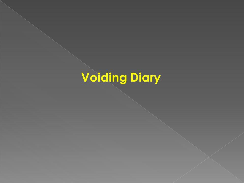 Voiding Diary
