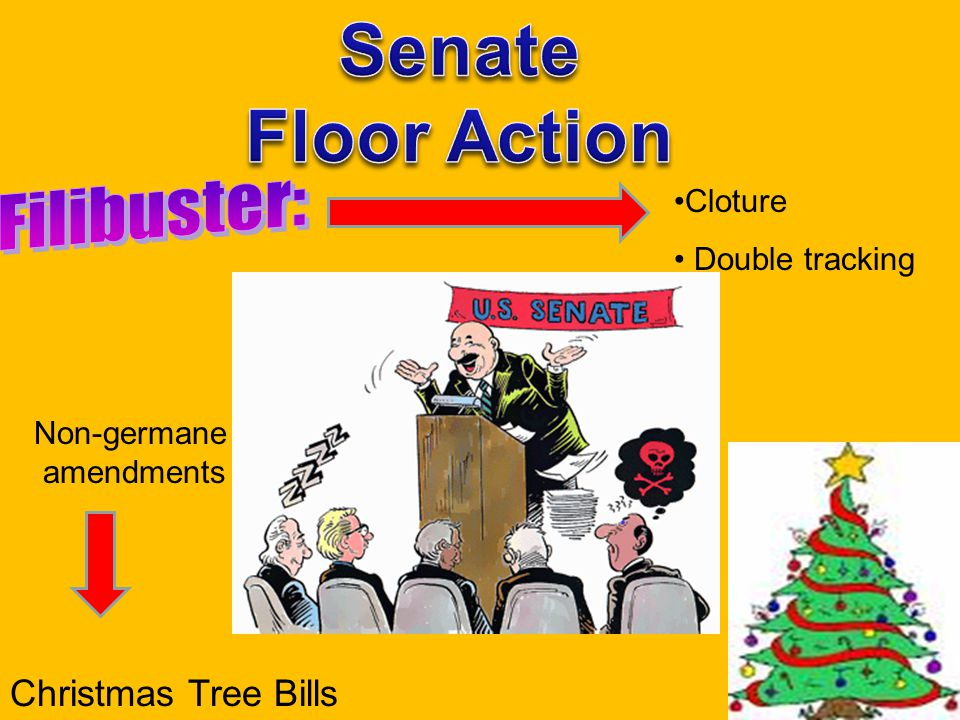Cloture Double tracking Christmas Tree Bills Non-germane amendments