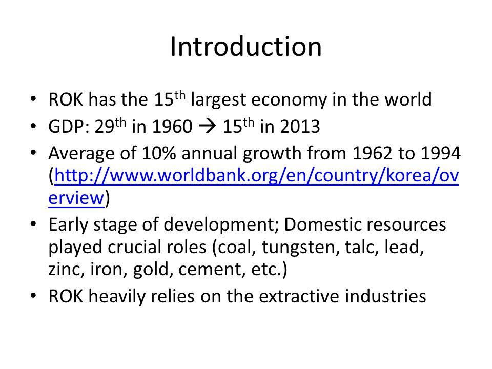 Annual mineral resources consumption in 2012: – 23 trillion KRW (ca.