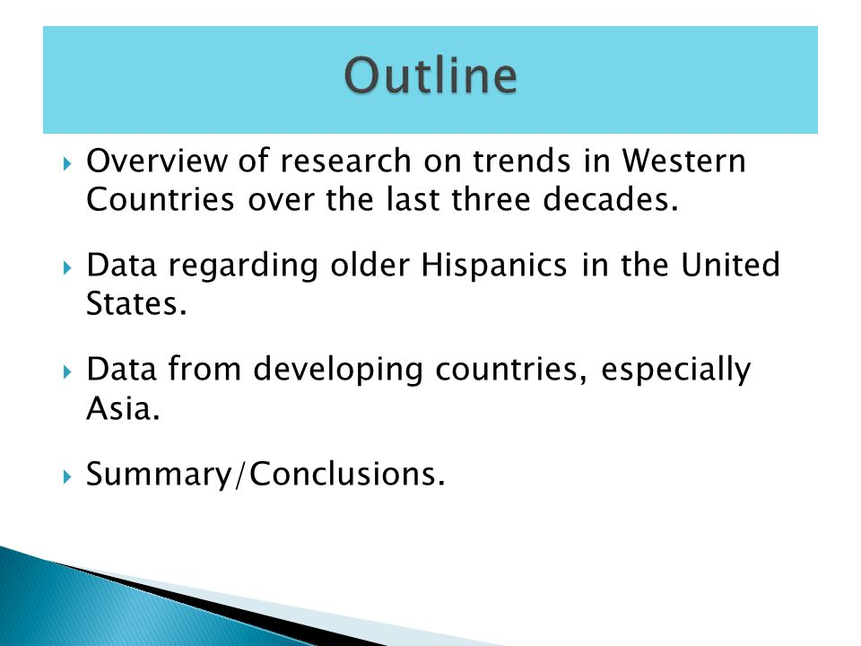  Overview of research on trends in Western Countries over the last three decades.