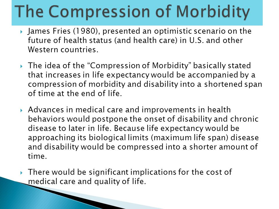  Lively response to the compression of morbidity thesis.