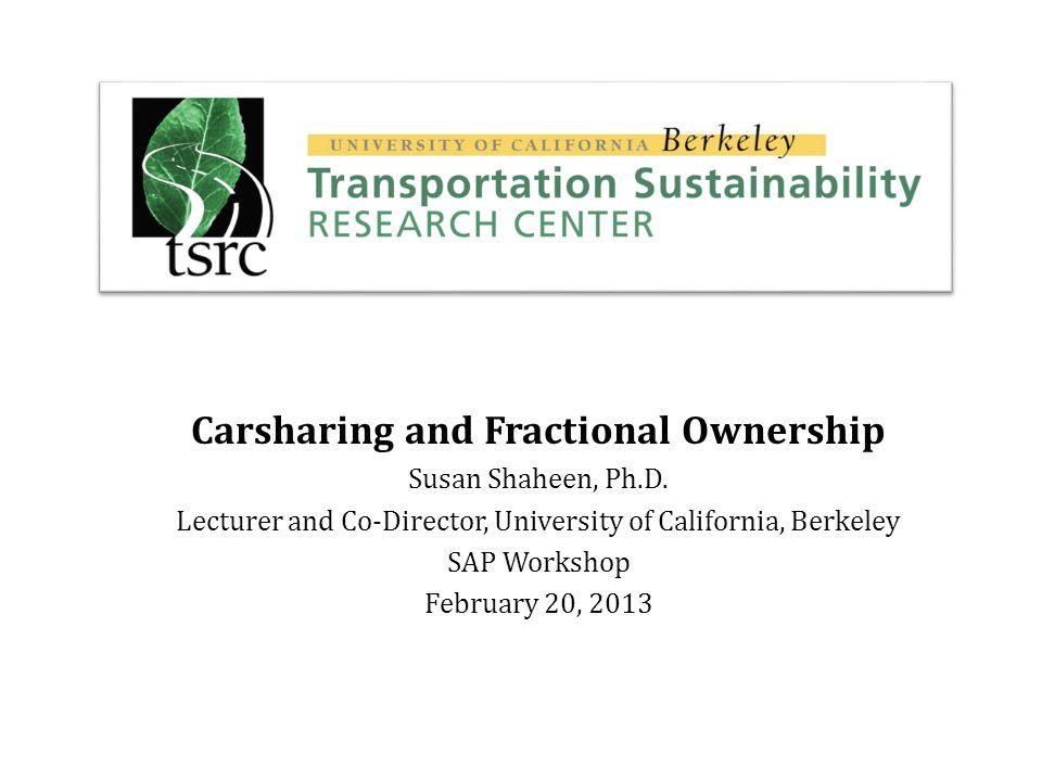 GHG Emission Impacts of Carsharing in North America transweb.sjsu.edu/project/0911.html