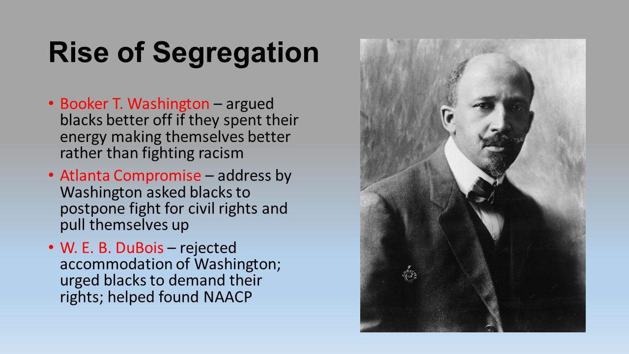 Rise of Segregation Booker T.