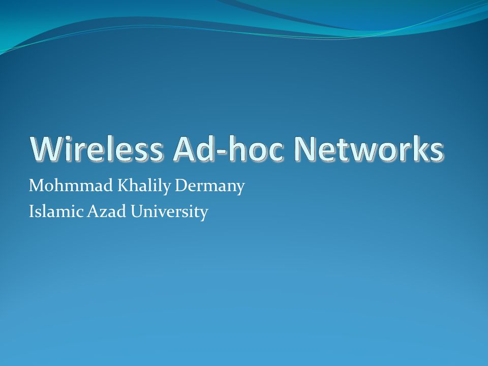 Mohmmad Khalily Dermany Islamic Azad University