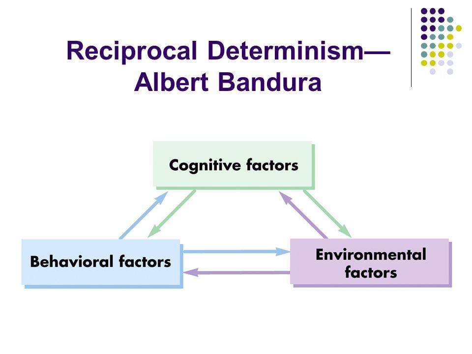 Reciprocal Determinism— Albert Bandura