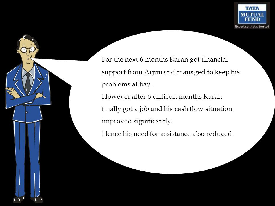 For the next 6 months Karan got financial support from Arjun and managed to keep his problems at bay.