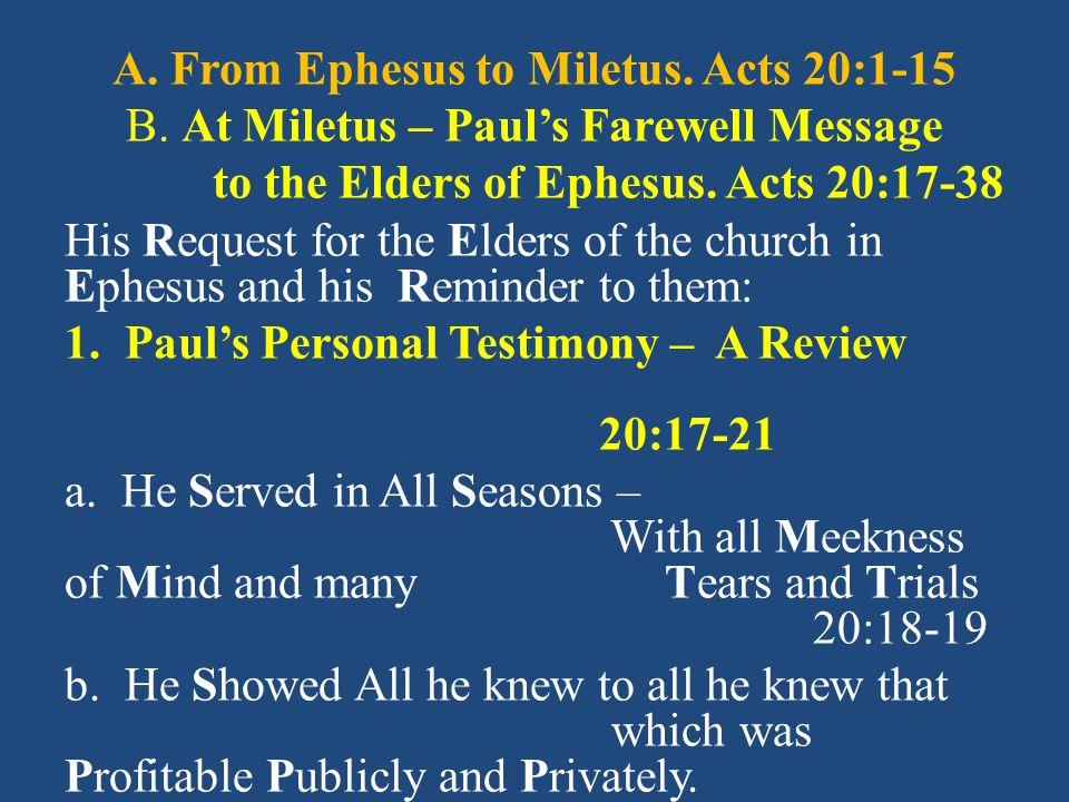 D.The Complaint & Commendation. Rev. 2:4, 6 1. The Complaint.
