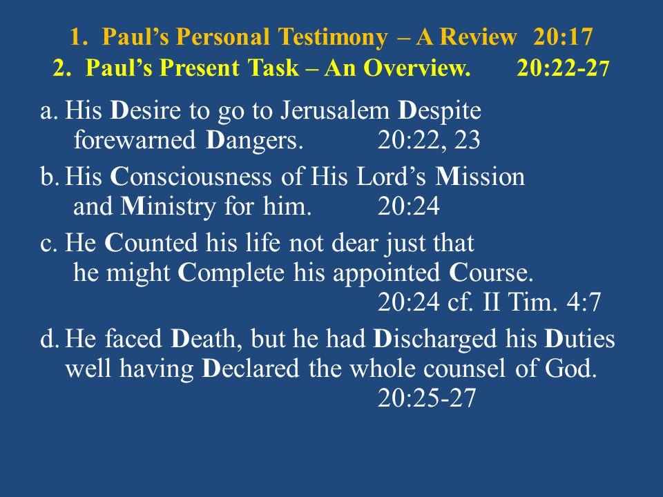 Paul's Prayer for the Church at Ephesus, Eph.