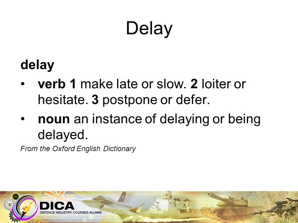 Delay Immediate –Schedule