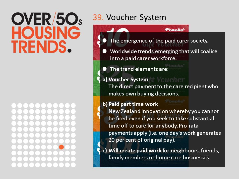 39. Voucher System The emergence of the paid carer society.