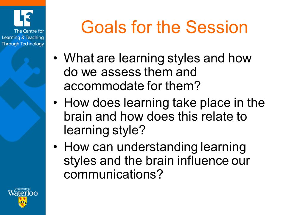 How does this relate to learning styles.