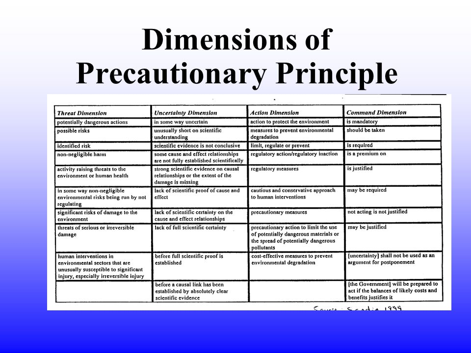 Dimensions of Precautionary Principle