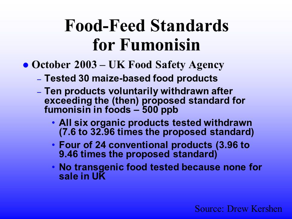 Recent Examples of Arbitrary Applications l EU banned North American hormone-fed beef l Netherlands prohibited Corn Flakes cereal fortified with vitamins l Denmark banned OceanSpray Cranberry drinks because of Vitamin C l France banned Red Bull energy drinks because of caffeine l Support for EU subsidization of coal-mining industry l Zambia refused U.S.