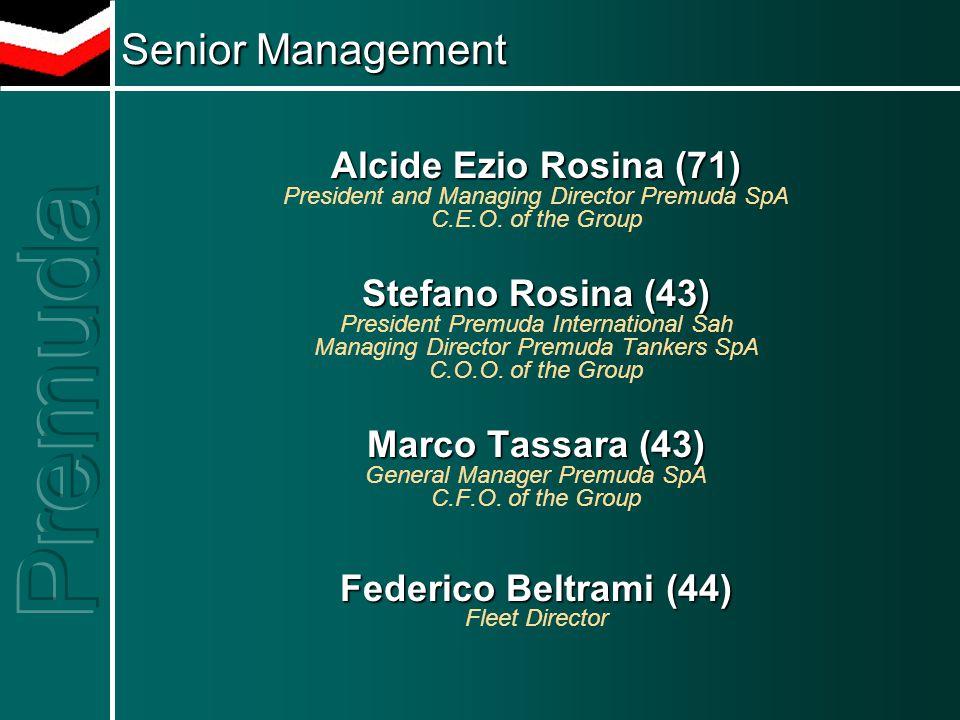 Alcide Ezio Rosina (71) President and Managing Director Premuda SpA C.E.O.