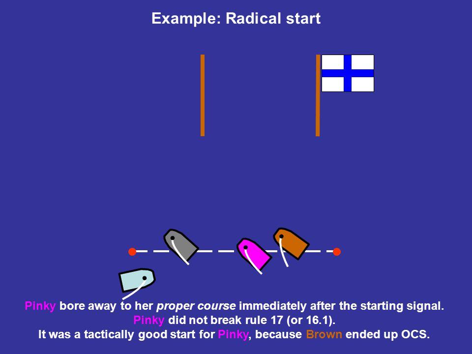 Example: Radical start Oh no!