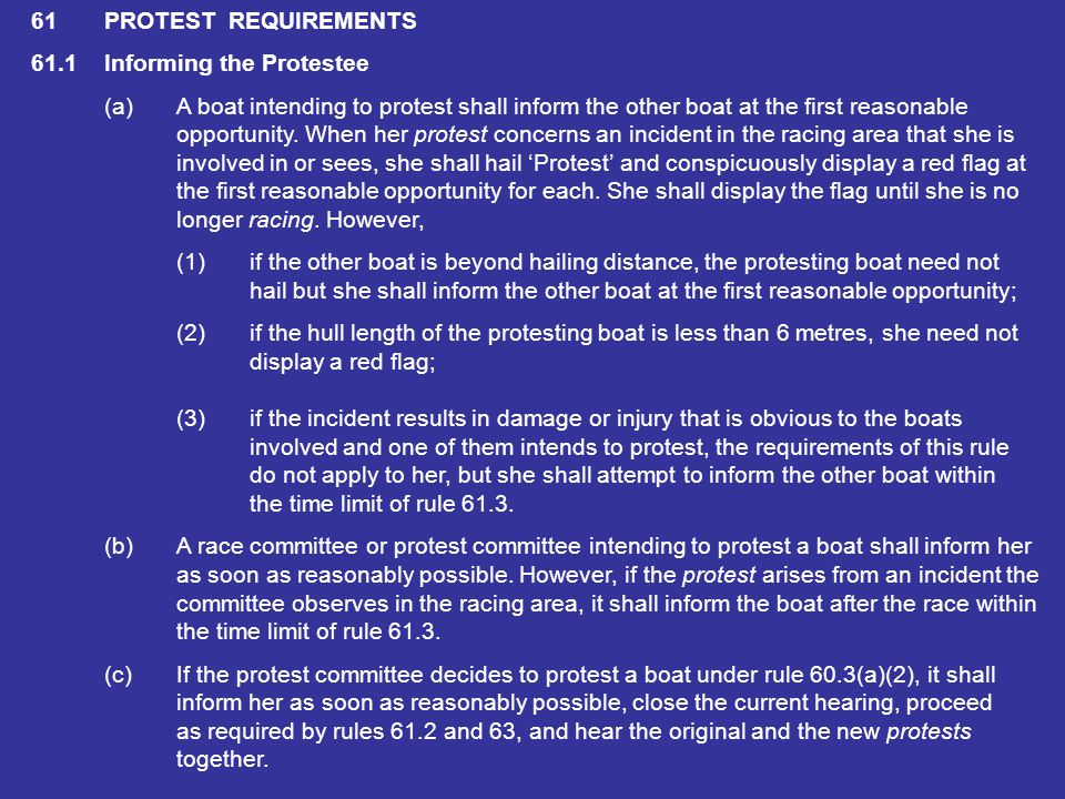60.2A race committee may (a)protest a boat, but not as a result of information arising from a request for redress or an invalid protest, or from a rep