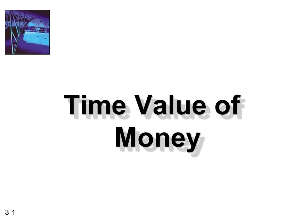 3-1 Time Value of Money