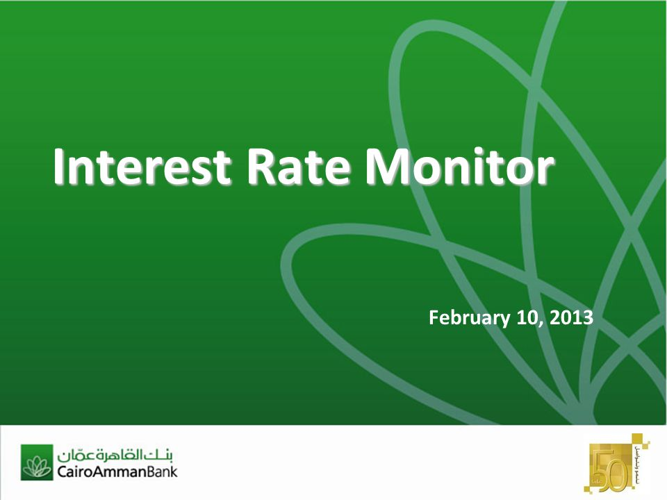Interest Rate Monitor February 10, 2013