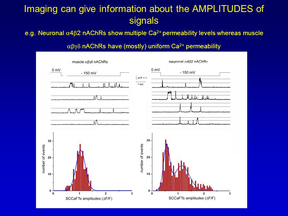 Imaging can give information about the AMPLITUDES of signals e.g.