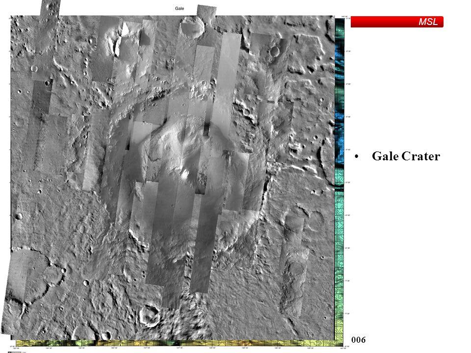 MSL Parker and BargeFriday, June 2, 2006 Gale Crater