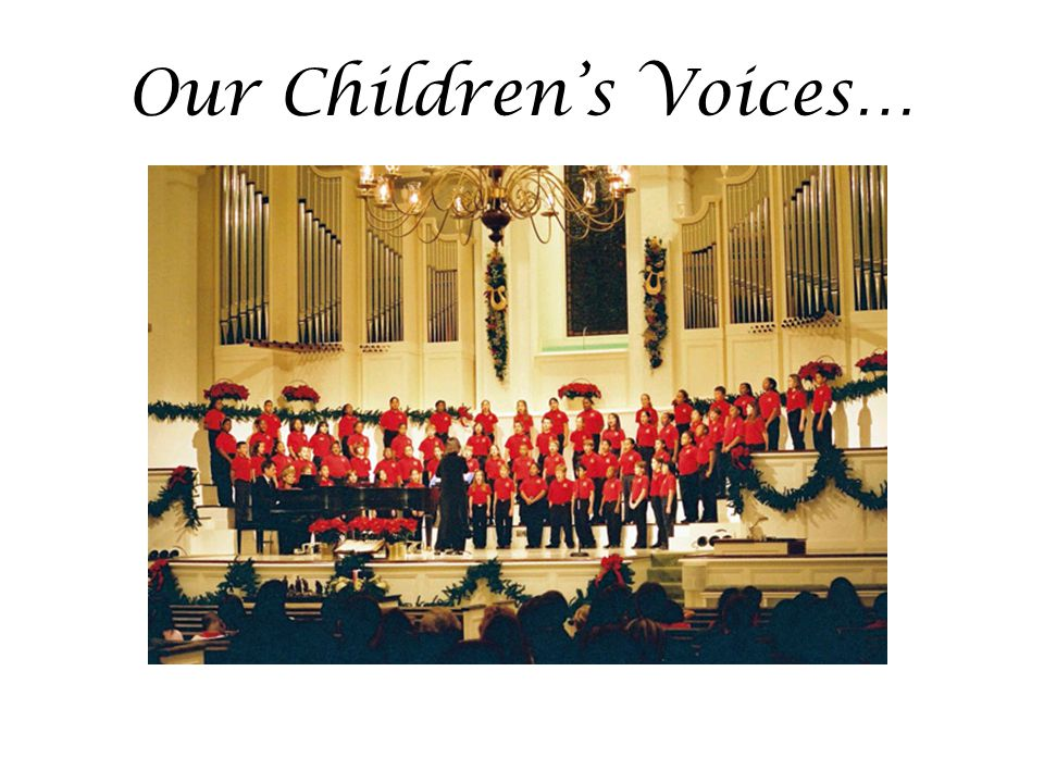 Our Children's Voices…