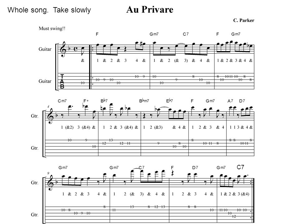 Whole song. Take slowly