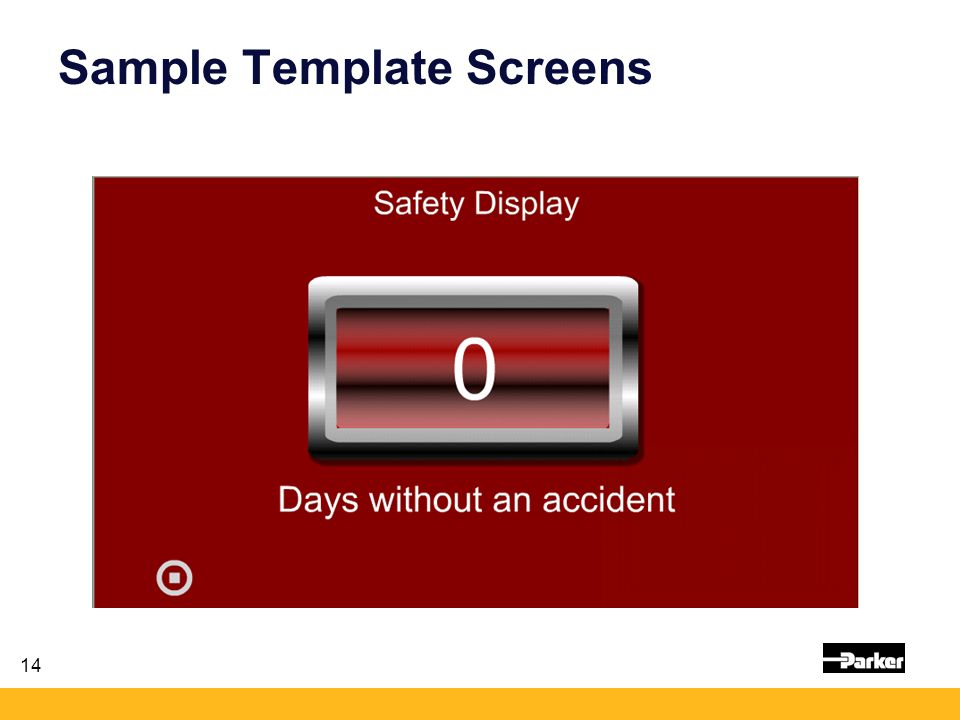 14 Sample Template Screens