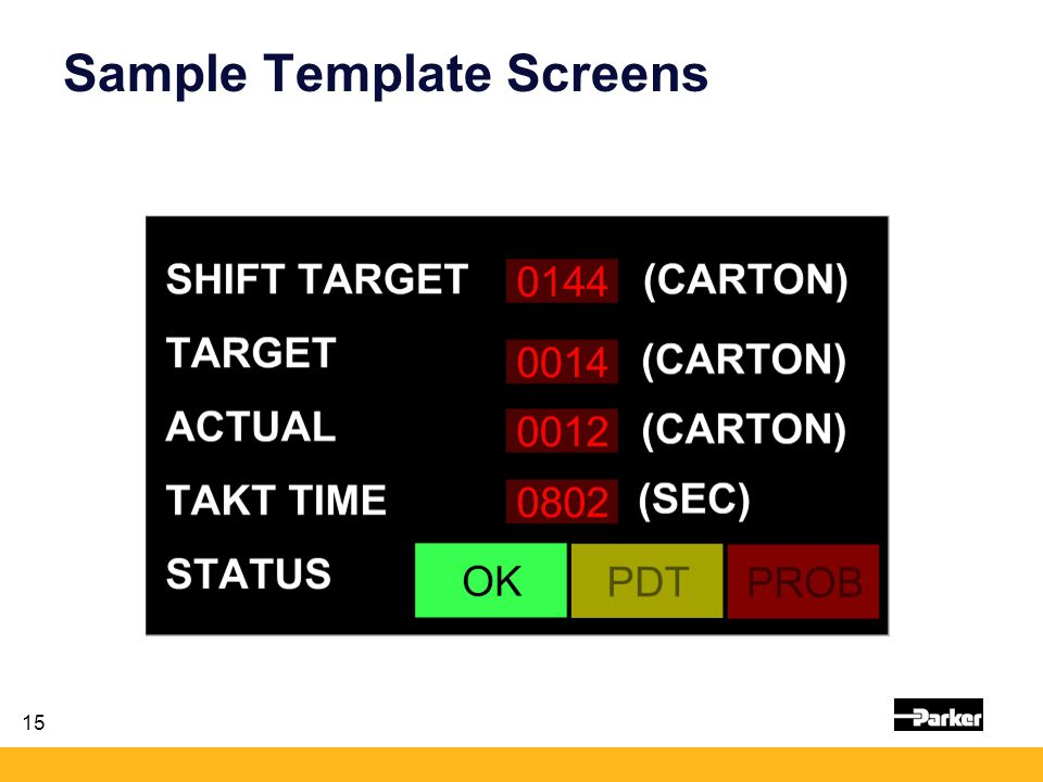 15 Sample Template Screens
