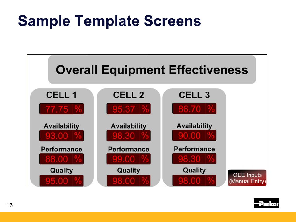 16 Sample Template Screens