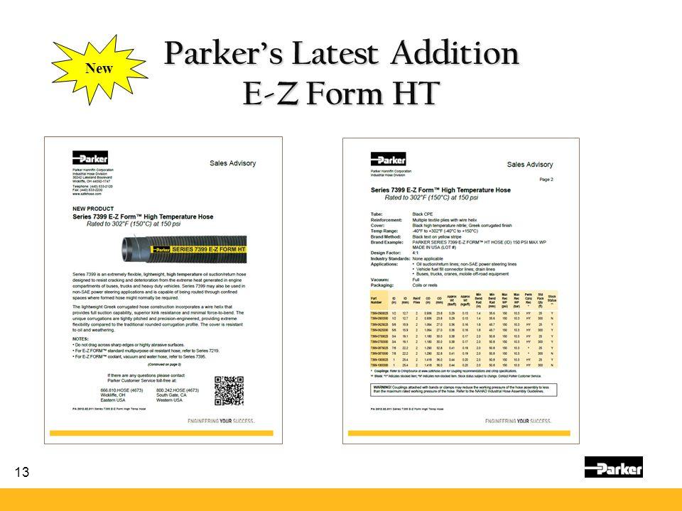 13 Parker's Latest Addition E-Z Form HT New