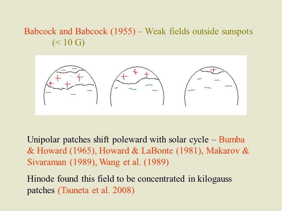 Polar field reverses at the time of sunspot maximum.