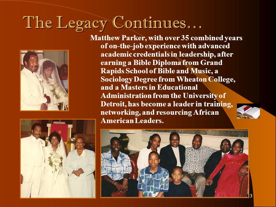 2 It all began… …On November 14, 1945 when Matt Parker and Ruth Parker gave birth to Matthew Parker in Cincinnati, Ohio.