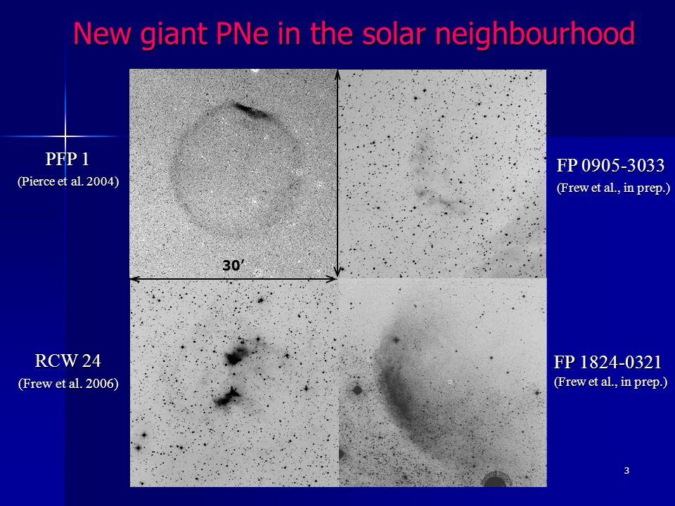 3 FP 1824-0321 (Frew et al., in prep.) 30 PFP 1 (Pierce et al.