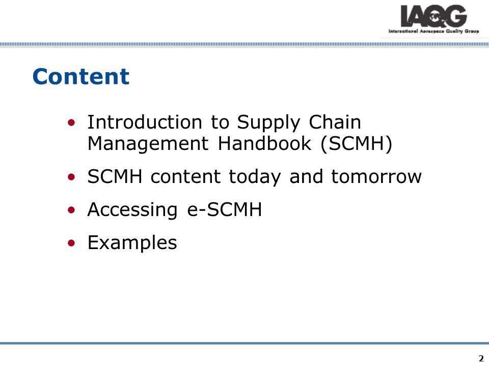 Easy access to SCMH http://www.iaqg.sae.org/scmh Free access via the IAQG Website.