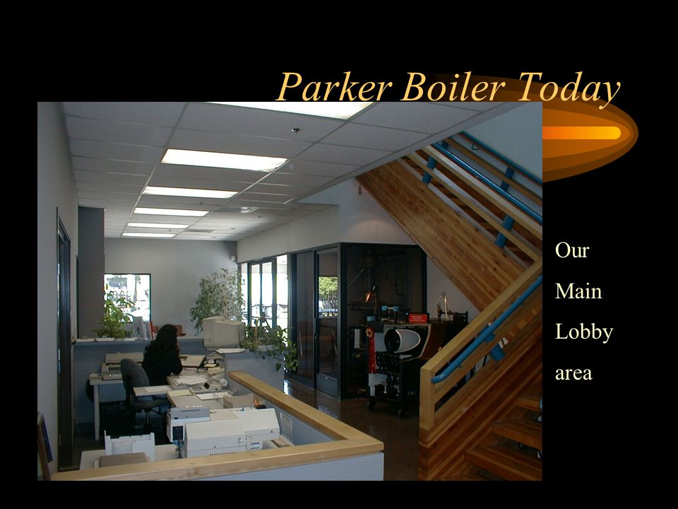 Parker Boiler Today Space efficient general office pool work stations and filing areas
