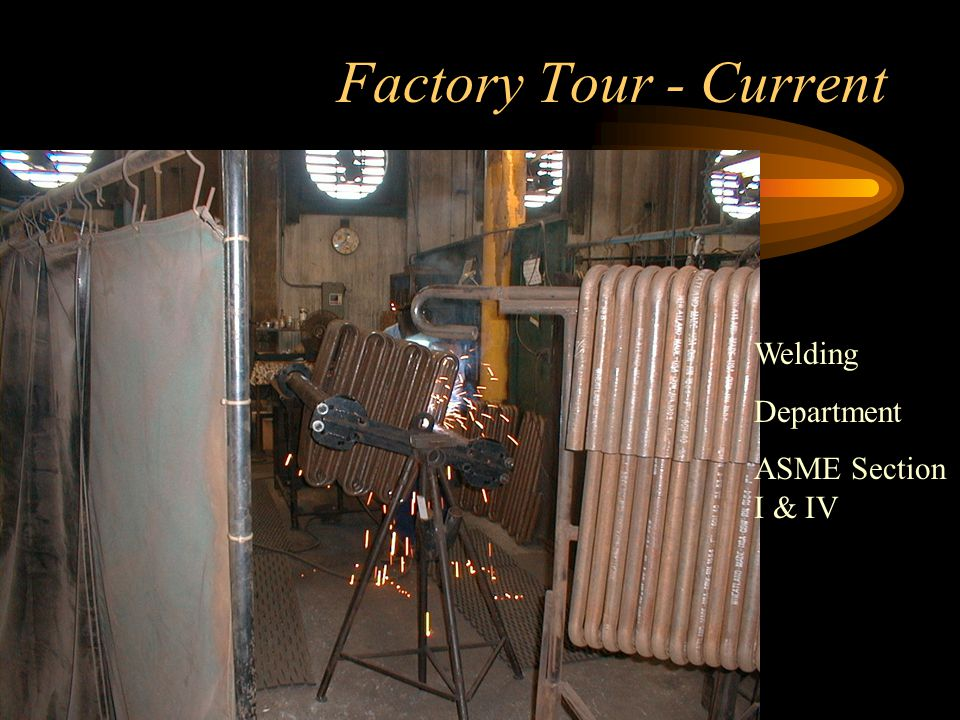 Factory Tour - Current Boiler tube storage and bending area
