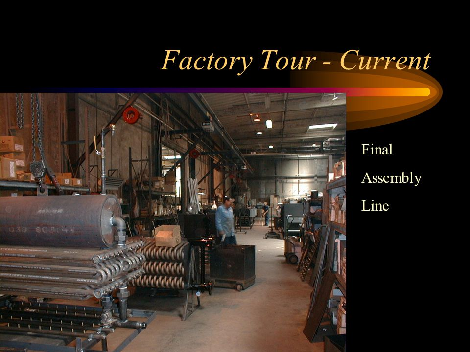 Factory Tour - Current Start of Final Assembly line-pre hydro-rack