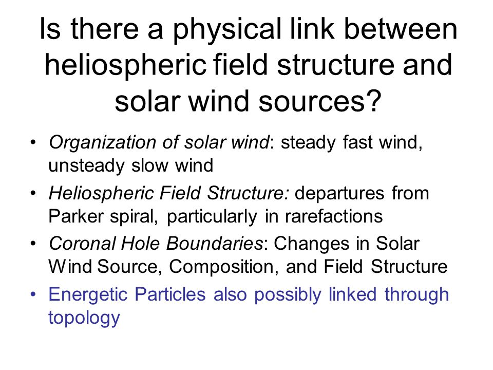 Is there a physical link between heliospheric field structure and solar wind sources.